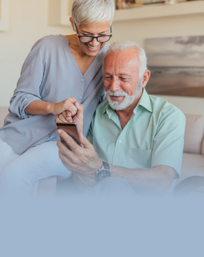 Mobile Internet Banking - Mature Couple