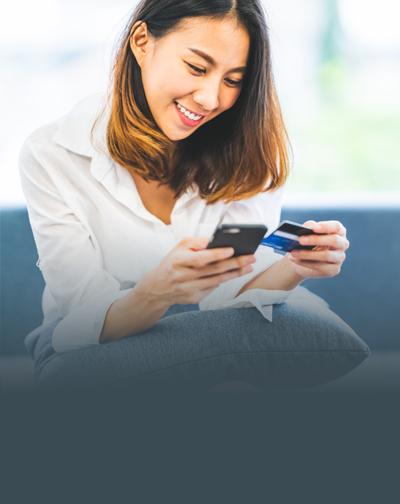 Mobile Internet Banking - Woman