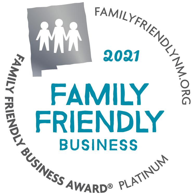 New Mexico Family Friendly Business Award Seal