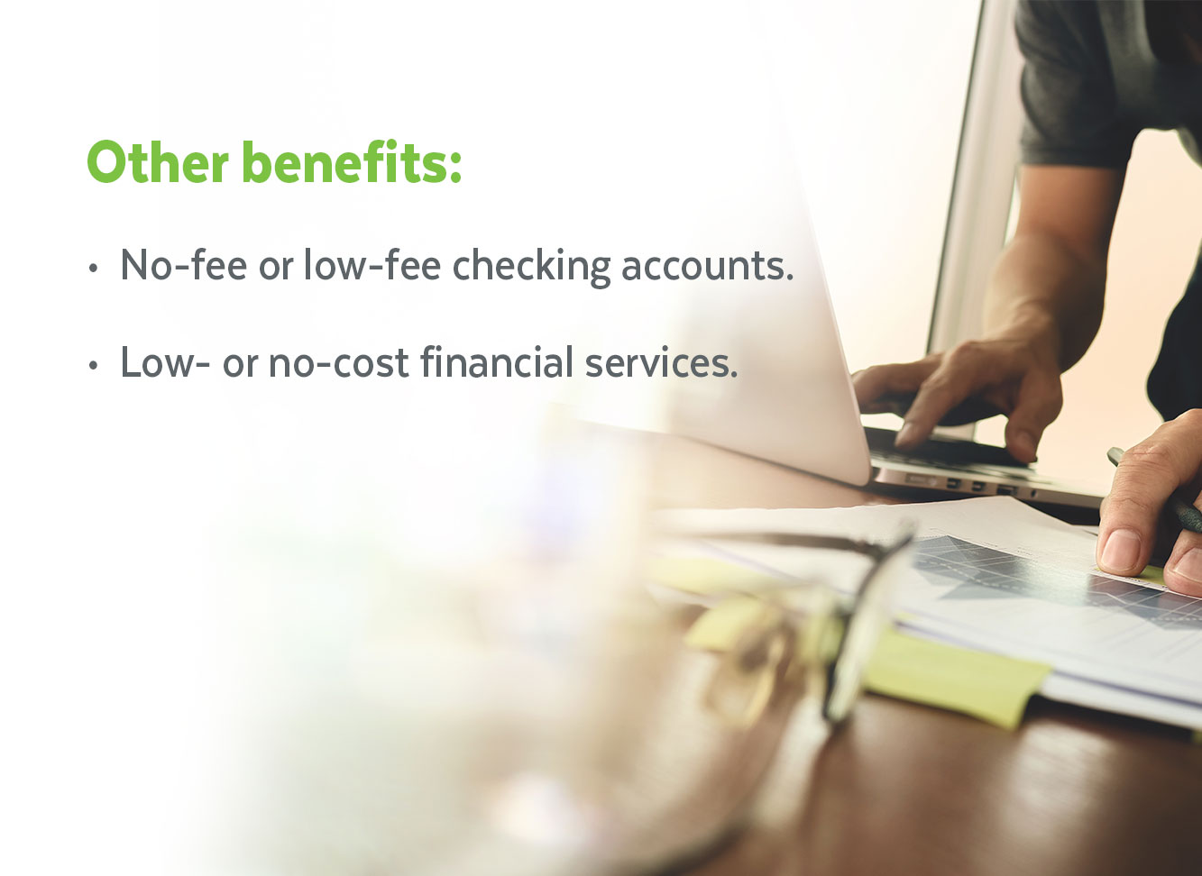 Nusenda also offers no-fee or no-cost checking options